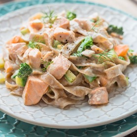 Fresh Salmon and Broccoli Tagliatelle