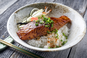 Seared Salmon in a Teriyaki Glaze