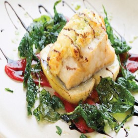 Welsh Rarebit Glazed Cod